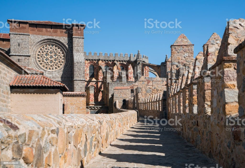 View from the Medieval City Walls of Avila, Spain stock photo
