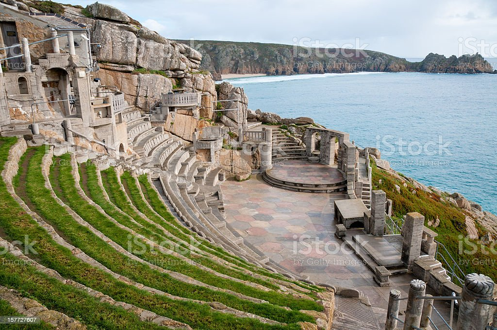 View From The Minack Theatre In Cornwall, England stock photo