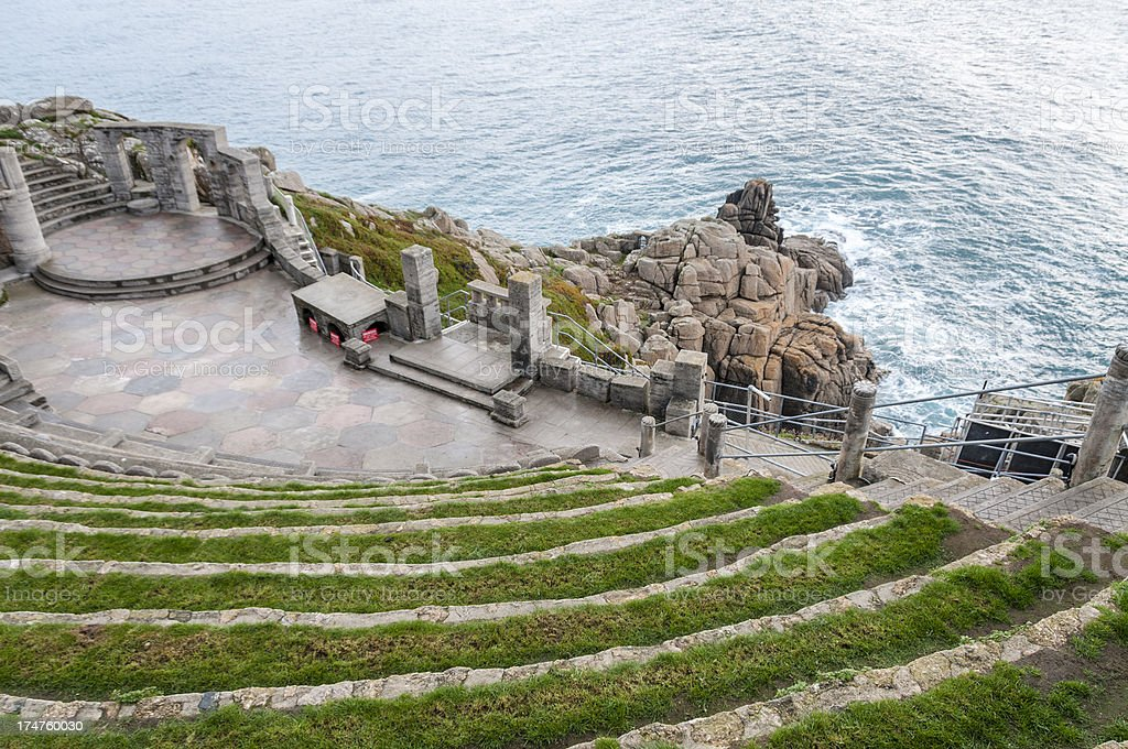 View From The Minack Theatre In Cornwall, England royalty-free stock photo