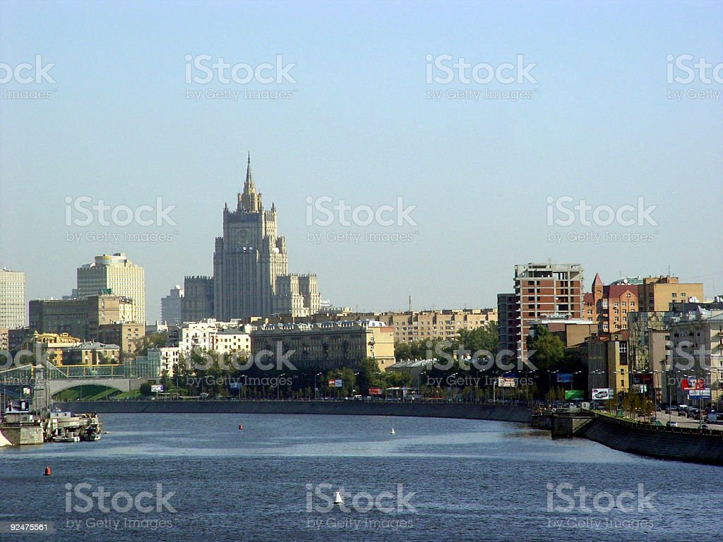 View from the Moscow river royalty-free stock photo