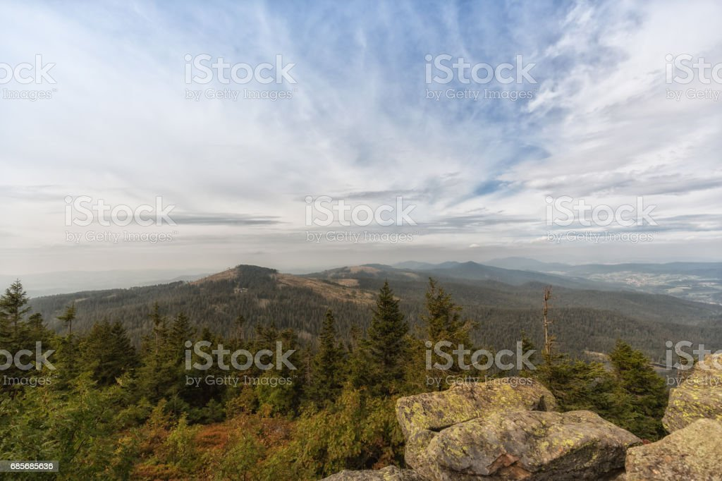 View from the mountain great arber, Bavaria stock photo