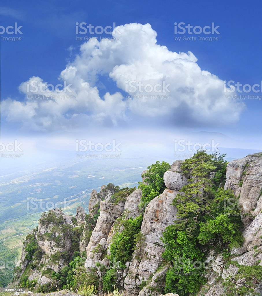 view from the mountains royalty-free stock photo