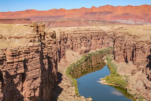 View from the Navajo Bridge to the Colorado River, Arizona, USA