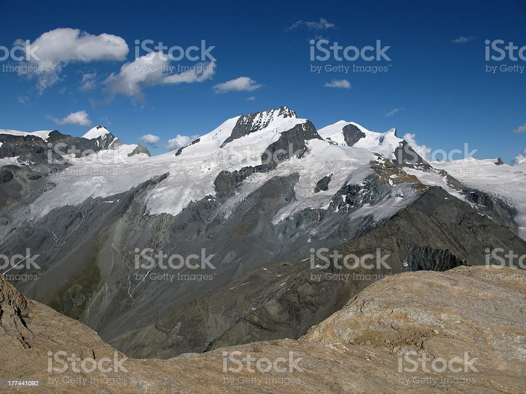 View From The Oberrothorn stock photo