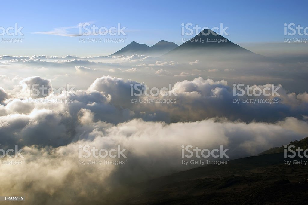 View from the Pacaya Volcano stock photo