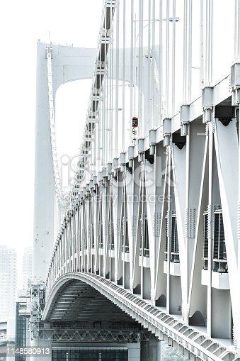 928415496 istock photo View from the pedestrian path of Rainbow bridge. Odaiba, Tokyo 1148580913