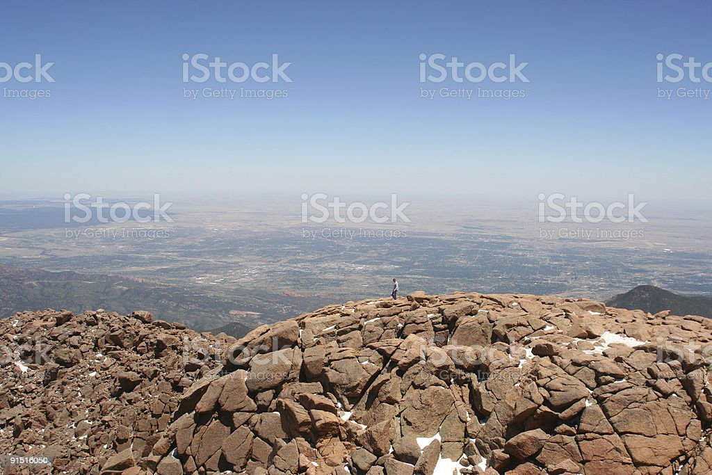 View from the Pikes Peak, Colorado royalty-free stock photo