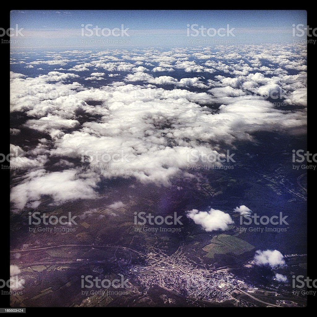 View From The Plane royalty-free stock photo