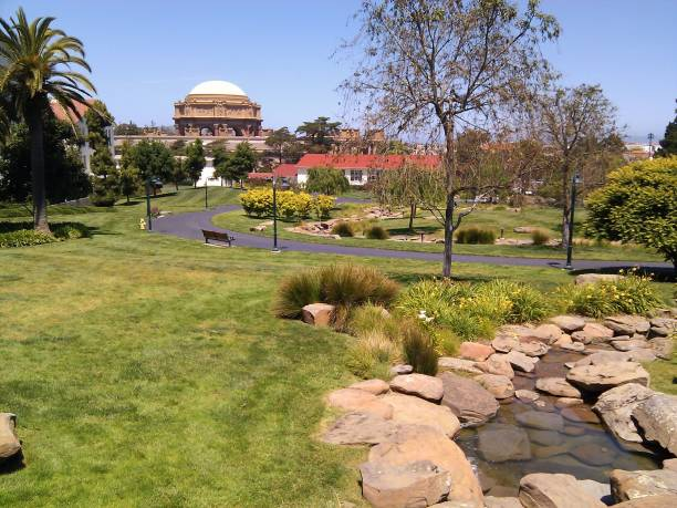 View from The Presidio of San Francisco stock photo