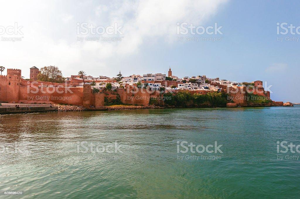 View from the river to the medina Rabat Historical Medina, stock photo