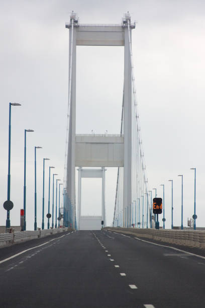 View from the road of the Severn Bridge stock photo
