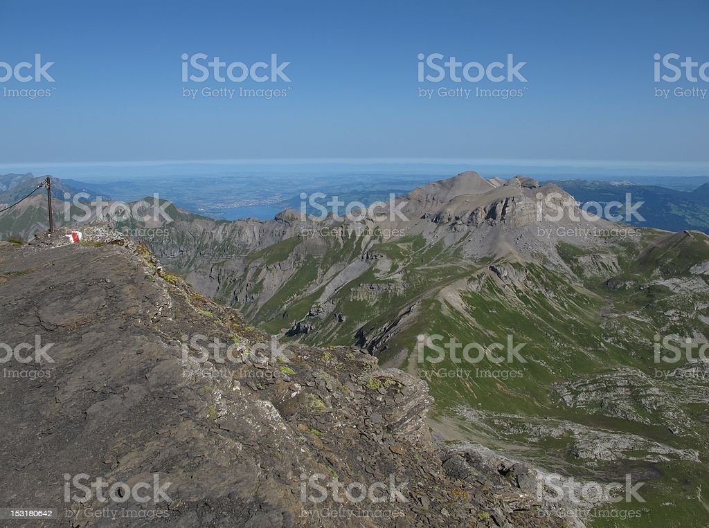 View From The Schilthorn royalty-free stock photo