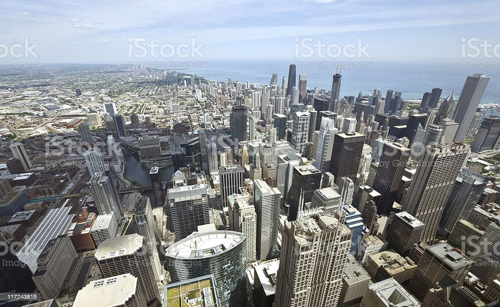 View From the Sears Tower royalty-free stock photo