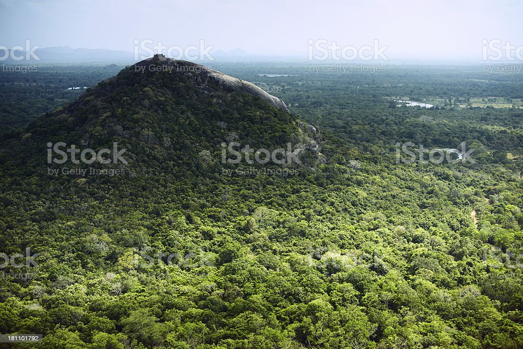 View from the Sigiriya royalty-free stock photo