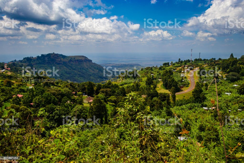 View from the Sipi falls stock photo