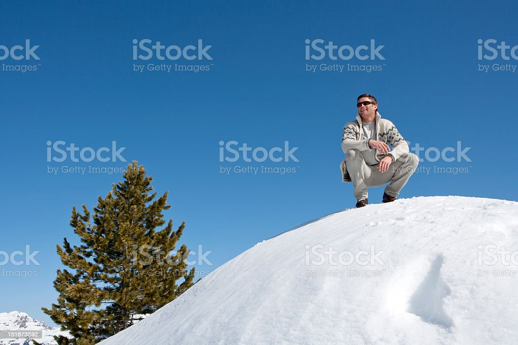 View from the snow tops stock photo