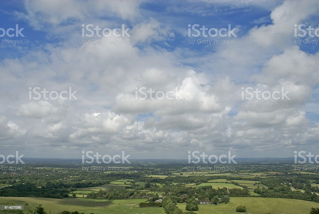 A view from the South Downs stock photo