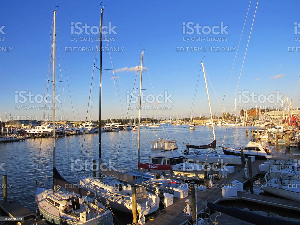 View from the Spa Creek Bridge,  Annapolis, Maryland stock photo