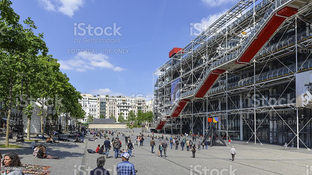 View from the square of Centre Georges Pompidou. stock photo