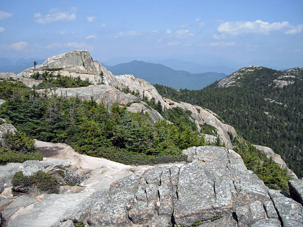 View from the summit of Chocorua A view of the White Mountains from the summit of Mt Chocorua in the National Forest, near Tamworth, New Hampshire. white mountains new hampshire stock pictures, royalty-free photos & images