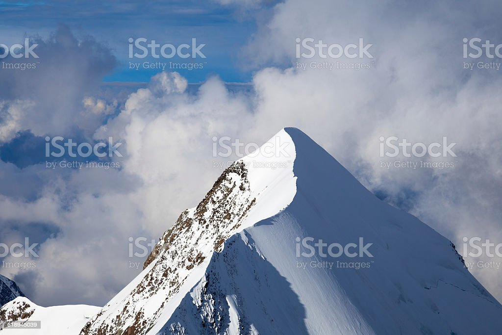 View from the Summit of Mont Blanc stock photo