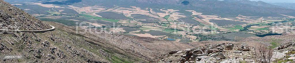 View from the Swartberg Pass to the East stock photo