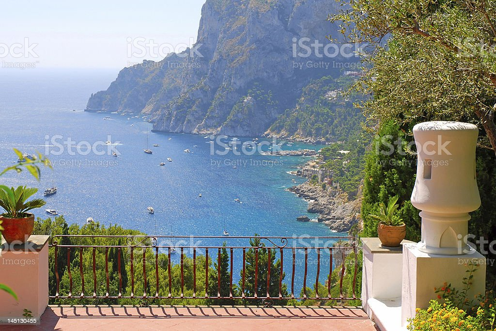 View from the terrace of luxury villa, Italy royalty-free stock photo