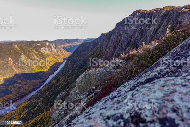 Photo of view from the top of a tundra down the valley