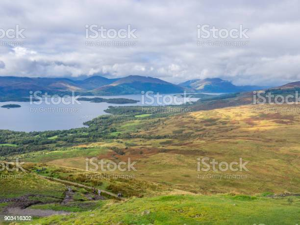 Photo of view from the top of conic hill, scotland
