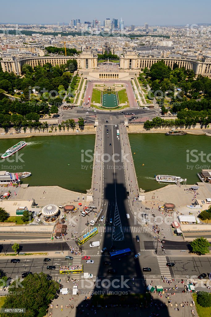 XXXL: View from the top of Eiffel Tower stock photo