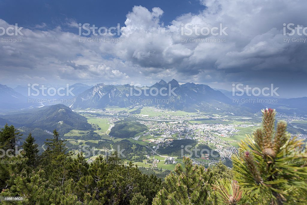 View from the top of Mt. Tauern stock photo