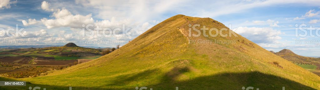 View from the top of Rana hill royalty-free stock photo