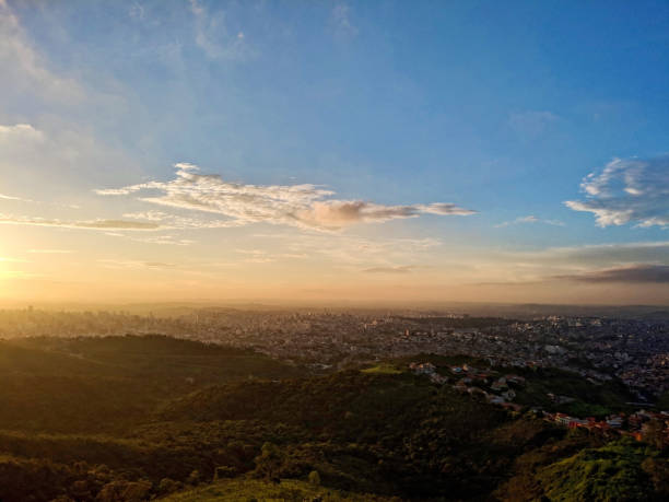 View from the top of the city of Belo Horizonte stock photo