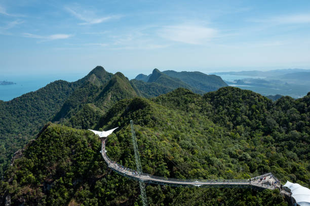 View from the top of the Langkawi Sky Cab area stock photo