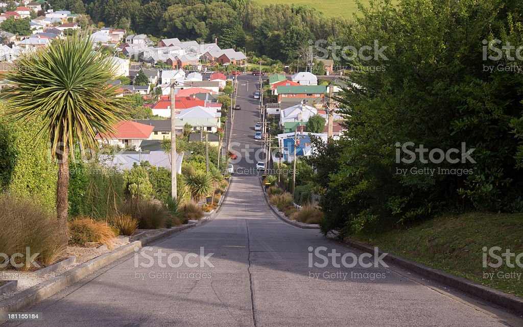 View from the top of the worlds steepest street royalty-free stock photo
