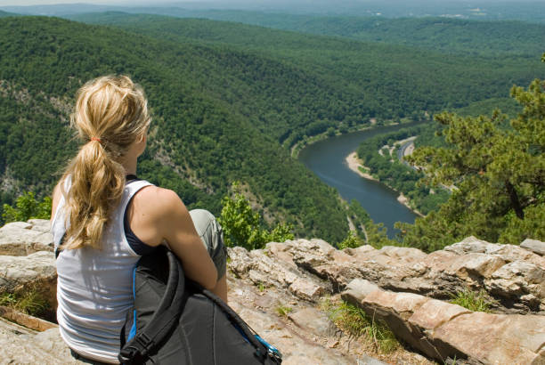 View from the Top Hiker sitting and taking in the beautiful viewSome similar photos: appalachian trail stock pictures, royalty-free photos & images