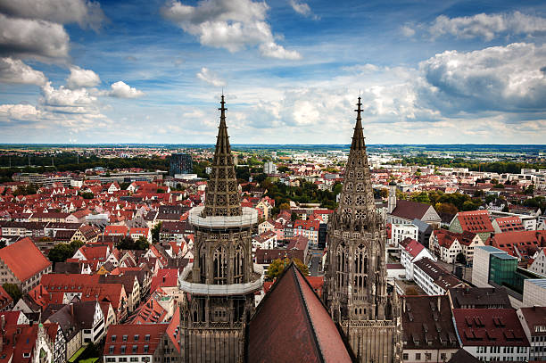 View from the tower over ULM View from the tower over ULM ulm stock pictures, royalty-free photos & images