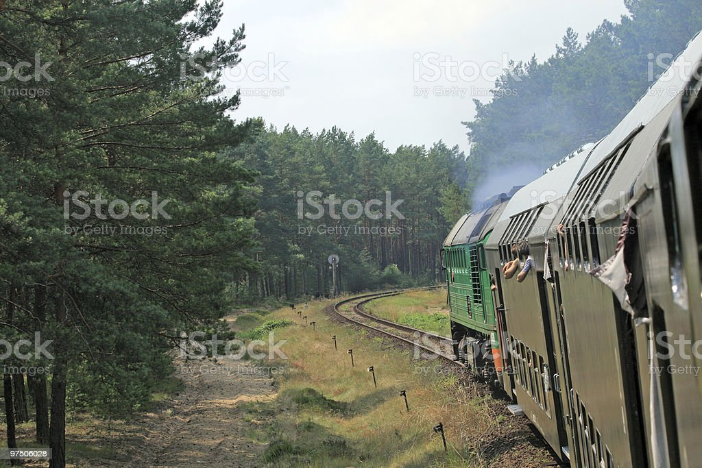 View from the train royalty-free stock photo