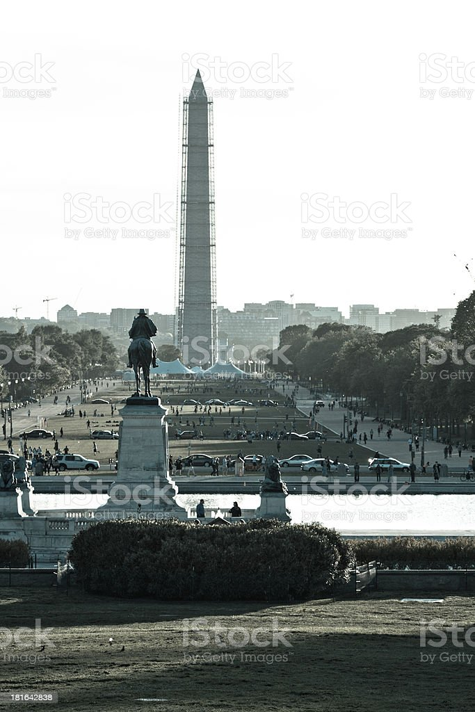 View from the United States Capitol Building, Washington DC stock photo