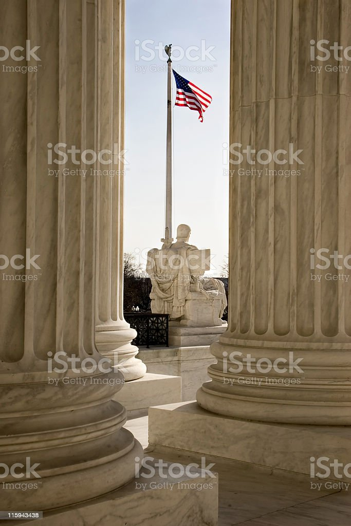 View From the U.S. Supreme Court royalty-free stock photo