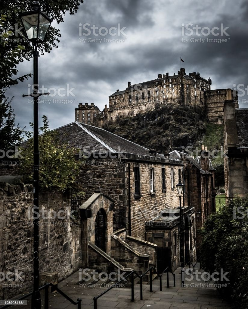 View from the Vennels Edinburgh Scotland stock photo