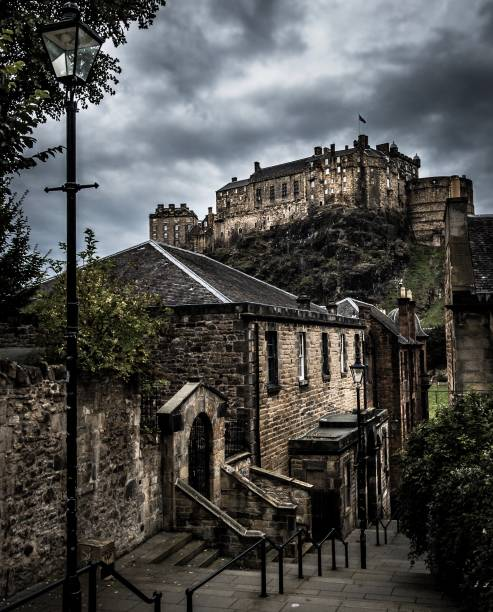View from the Vennels Edinburgh Scotland stock photo