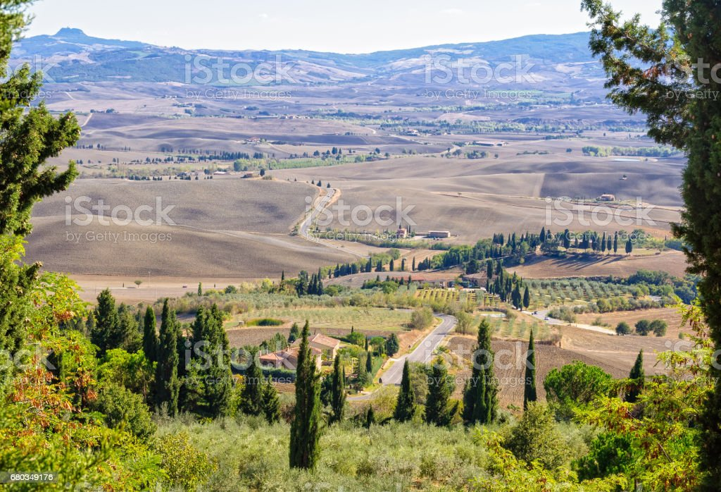 View from the Walls - Pienza royalty-free stock photo