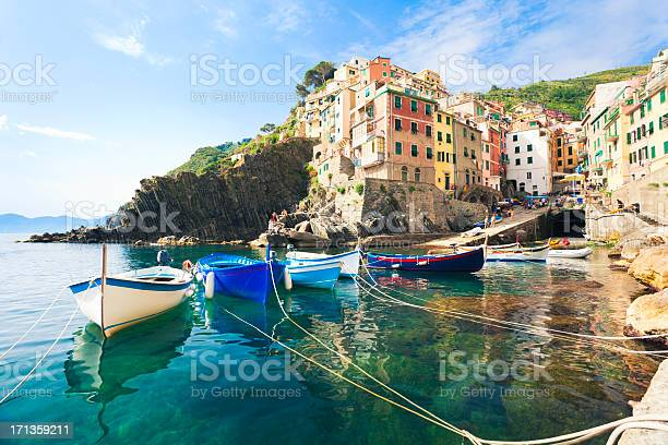 Photo of A view from the water of Riomaggiore, Cinque Terre