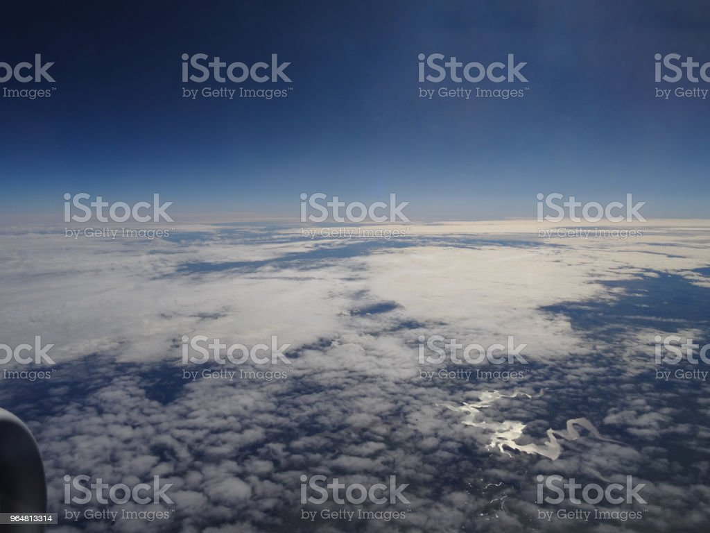 View from the window of an aeroplane royalty-free stock photo