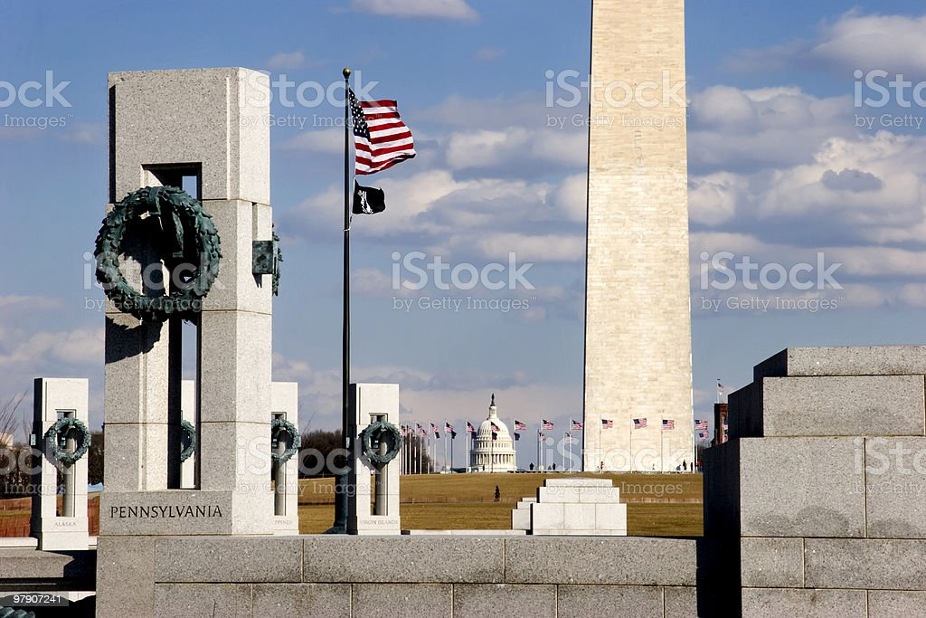 View From the WW II Memorial royalty-free stock photo