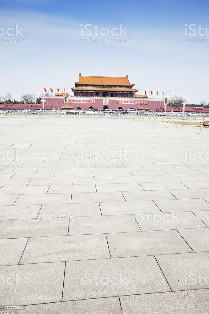 View from Tiananmen Square, Beijing royalty-free stock photo