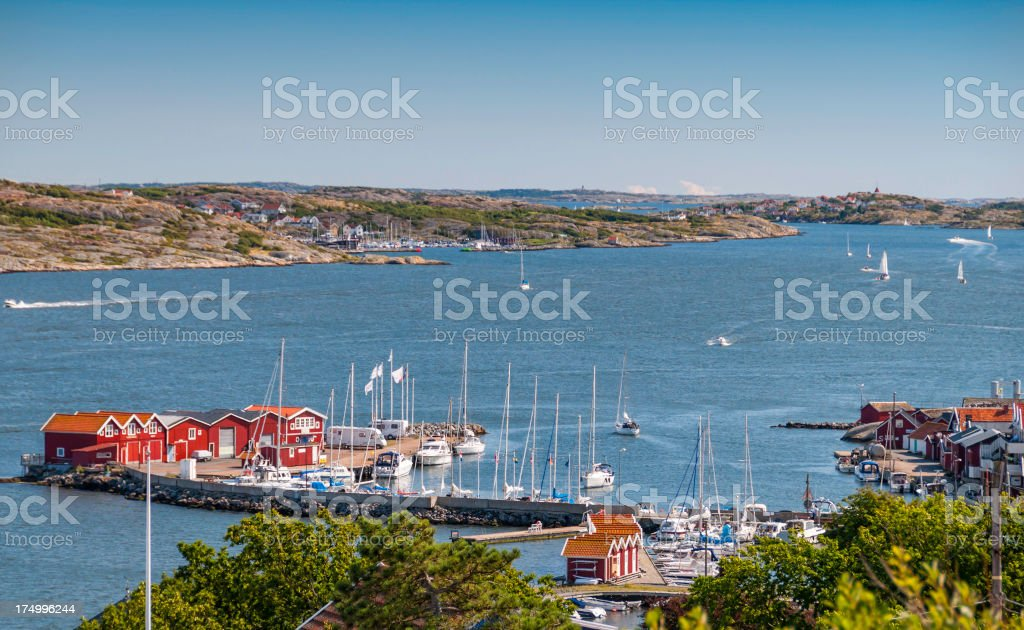 View from top of Knippla Island. royalty-free stock photo
