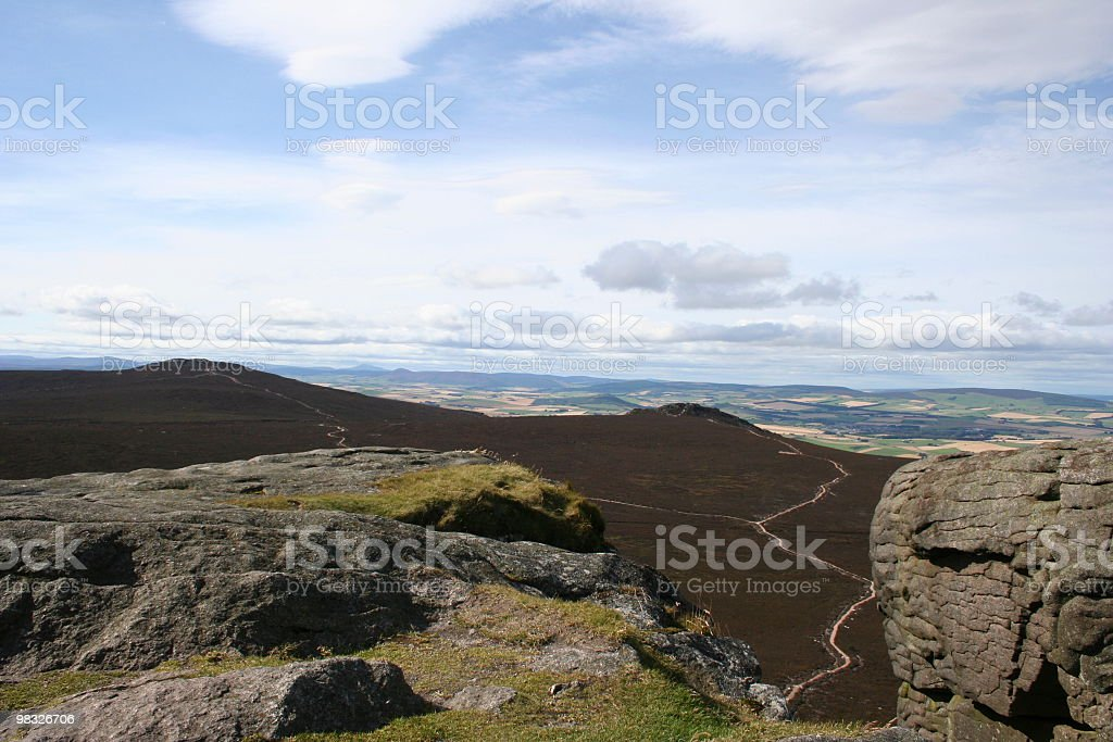 View from top of Scottish mountain royalty-free stock photo