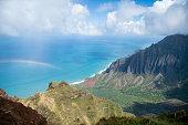 View from top of valley, Kauai, Hawaii, USA